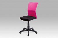 Kancelářská židle dětská růžová plynový píst KA-BORIS PINK