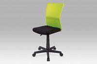 Kancelářská židle dětská zelená plynový píst KA-BORIS GRN