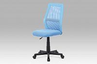 Kancelářská židle modrá v kombinaci látky MESH a ekokůže KA-V101 BLUE