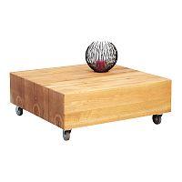 Konferenční stolek na kolečkách Bergen, 80 cm