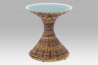 Konferenční stolek UMĚLÝ ratan hnědý melír SF-8560 PE