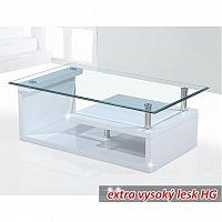 Konferenční stolek v luxusním extra vysokém lesku HG bílá JULIEN