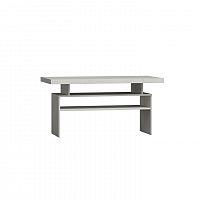 Konferenční stolek z bílého jasanu s výraznou reliéfní kresbou v paletovém stylu TK210