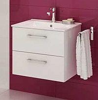 Koupelnová skříňka s umyvadlem v bílém lesku 79 cm F1250