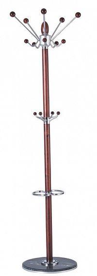 Kovový stojanový věšák 176 cm v dekoru mahagon typ CR 27 KN1012