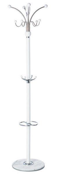 Kovový stojanový věšák 182 cm v bílé barvě typ LC 05 KN1016