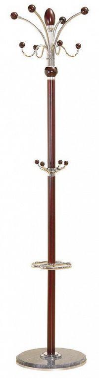 Kovový stojanový věšák 182 cm v dekoru mahagon typ LC 05 KN1016