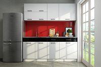 Kuchyňská linka 180 cm v kombinaci bílý lesk a černá F3006