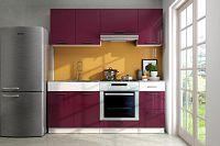 Kuchyňská linka 180 cm v kombinaci fialový lesk a bílá F3004