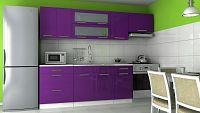 Kuchyňská linka v barevném provedení fialový lesk F1026