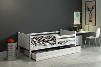 Kvalitní dětská postel v bílé barvě 80x190 cm F1422