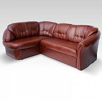 Luxusní kožená sedací souprava v levém provedení hnědé a červené barvy TK143