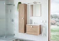 Malá koupelnová sestava v dekoru dub sonoma se zrcadlem KN1120