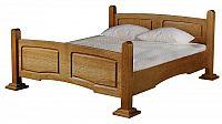 Manželská postel 180x200 cm v rustikálním stylu s možností výběru moření typ 25 KN642