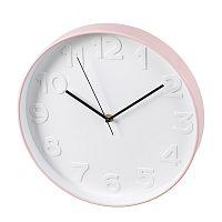 Nástěnné hodiny Pastill, 31 cm, bílá/růžová