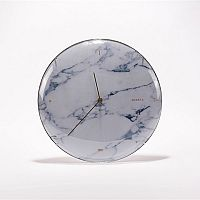 Nástěnné hodiny Skynda, 35 cm, bílý mramor