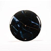 Nástěnné hodiny Skynda, 35 cm, černý mramor