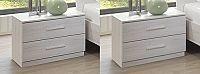 Noční stolek 2 ks dub bílý KN131