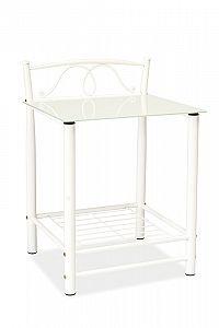 Noční stolek bílý KN1815
