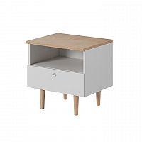 Noční stolek bílý v kombinaci buk pískový TK3222