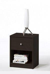 Noční stolek s šuplíkem v tmavě hnědé barvě F1195