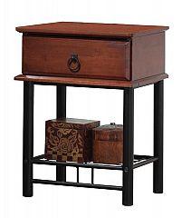 Noční stolek se zásuvkou v dekoru antická třešeň KN789