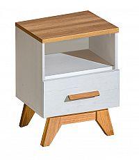 Noční stolek v dekoru dub nash v kombinaci s borovice andersen typ SV15 KN606