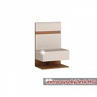 Noční stolek v luxusní bílé barvě ve vysokém lesku TK026 TYP 95