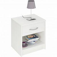 Noční stolek v moderním bílém provedení BISI 305895