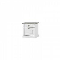 Noční stolek v moderním provensálském stylu bílá LIONA