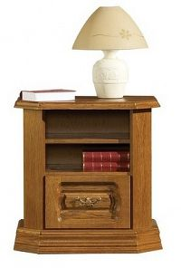 Noční stolek v rustikálním stylu s možností výběru moření typ 26 KN642