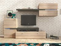 Obývací stěna v trendy jednoduchém provedení dub sonoma JET