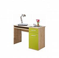 PC stůl v jednoduchém moderním provedení zelená EMIO Typ 6