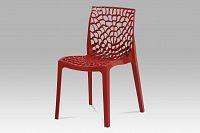 Plastová jídelní židle v červené barvě CT-820 RED