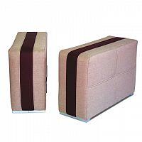 Područka šíře 32 cm, sedačka světle hnědé barvy s čokoládovou ekokůží ROSANA