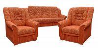 Pohodlná sedací souprava s úložným prostorem v oranžové barvě 3+1+1 F1315
