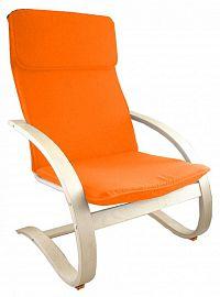 Pohodlné relaxační křeslo v oranžové barvě F190