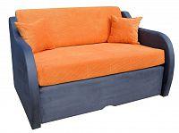 Pohovka rozkládací oranžová, capri 8, F184