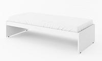 Postel v bílé matné barvě s matrací typ RP 18 KN745