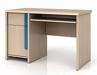 Psací stůl CAPS BIU/120 dub světlý belluno/modrá lišta