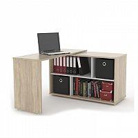 Rozkládací PC stůl v jednoduchém moderním designu dub sonoma ASTON