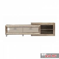 RTV stolek ve vysokém lesku v luxusním moderním provedení béžová GATIK 131