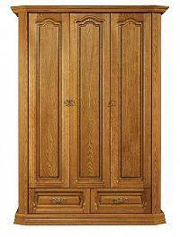 Šatní skříň 100 cm v rustikálním stylu s možností výběru moření typ 29 KN642