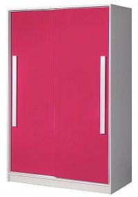 Šatní skříň 120 cm s posuvnými dveřmi s možností výběru barev typ 12 KN1077
