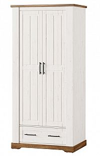 Šatní skříň 94 cm v dekoru borovice andersen se zásuvkou typ 70 KN1233