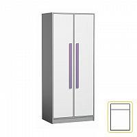 Šatní skříň fialové úchytky PIERE P01
