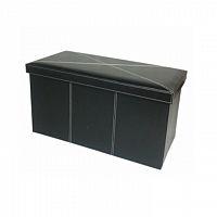 Skládací lavice ve stylovém moderním provedení ekokůže černá MOLY