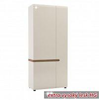Skříň dvoudveřová v luxusní bílé barvě ve vysokém lesku TK026 TYP 20