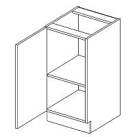 Skříňka dolní EKRAN WENGE š.40cm D 40 - levá