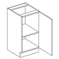 Skříňka dolní EKRAN WENGE š.40cm D 40 - pravá